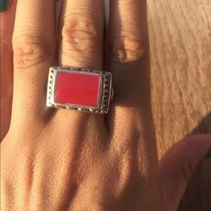 Sliver 925 ring with stone.